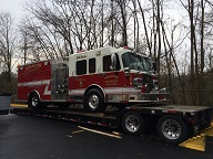 Firetruck shipping services