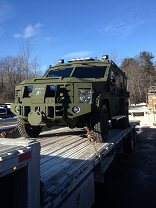 armoured truck hauling