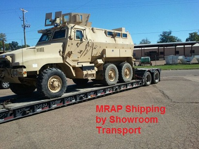 MRAP shipping and transport by Showroom Transport